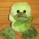 "Walmart 5.5"" Plush Green Duck with Big Feet"