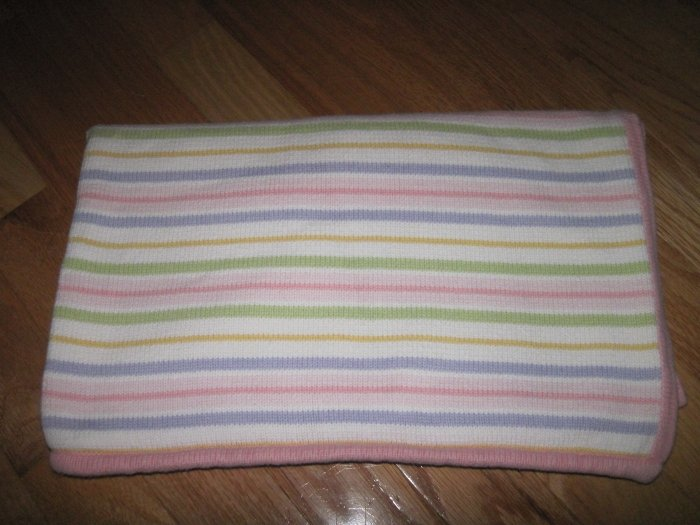 Circo Sweater Pastel Striped Knit Baby Blanket