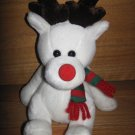 2000 Friendzies Target Plush Reindeer Moose Rednose Red and Green Scarf