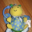 Carters Blue Yellow & Green Vibrating Bug Butterfly Pull Toy