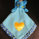 Baby Boom Blue Elephant Blanket Lovey Triangle Edge Yellow Heart Rock A Bye Baby