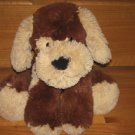Animal Adventure Large Fluffy Beige & Dark Chocolate Brown Floppy Puppy Dog with Red Bandanna