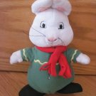 Max & Ruby Plush Max Bunny Rabbit Doll Toy Green Outfit Christmas Winter Scarf