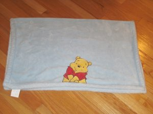 Kids Line Plush Light Blue Winnie The Pooh Warm Furry Baby