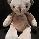 Carter's Just One Year Tan Beige I Love You Heart U Plush Teddy Bear