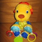Bright Starts Bunch-O-Fun Plush Multi Color Activity Lion Squeak Rattle Teether Toy