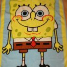 Nickelodeon Sponge Bob Square Pants Luxe Plush Toddler Size Crib Blanket Spongebob