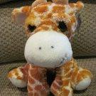 Royal Plush Orange & White Sitting Giraffe with Big Green Eyes