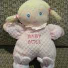 Especially For Baby Doll Plush Blond Braids Pink Heart Lovey Bunny Slippers Waffle Weave Pjs