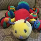 "Aurora Baby 18"" Plush Buggsy Caterpillar Learn with Me Rainbow Bright Color"