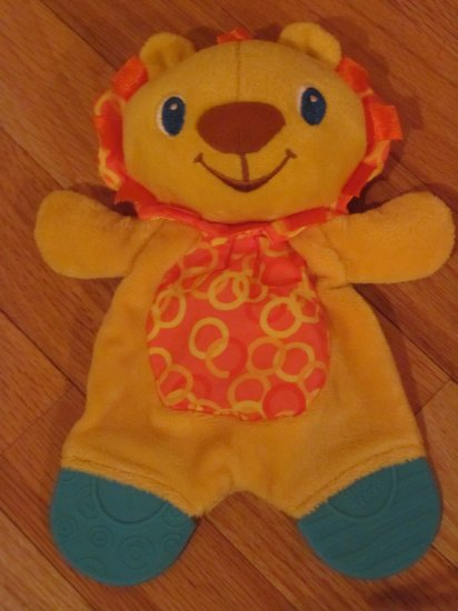 Bright Starts Snuggle and Teethe Lion Security Blanket Lovey Teether