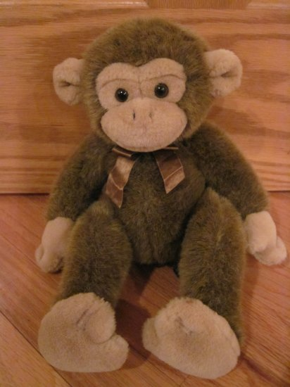 Russ Berrie Brown 13 Inch Plush Monkey Named Jimby