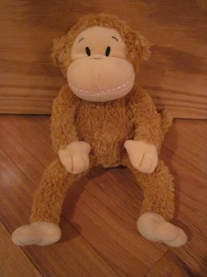 Galerie Target Plush Brown Monkey Cream Face Pink Stitched Mouth