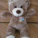 Galerie Plush 8 Inch Brown Teddy Bear Luv U Kiss Me I'm Yours Conversation Hearts Valentine Target
