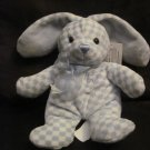 Walmart Plush My First Easter Bunny Rabbit Blue Checkered Pattern
