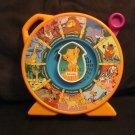 Vintage 1989 Mattel Lion King See N Say Orange with Purple Pull Handle