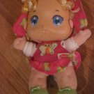 Playskool Hasbro 2006 Busy Lil' Butterfly Baby Doll Pink Dress Blonde Ribbon Hair Rattle