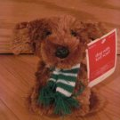 Animal Adventure Plush Brown Puppy Dog Wearing Green and White Scarf Target Holiday Christmas