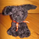 Animal Adventure Plush Black Puppy Dog Wearing Red Bandanna