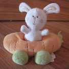 Koala Baby Plush White Bunny Rabbit & Carrot Car Rattle Toy