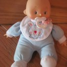 Hong King Cititoy Plush Baby Doll Blue Outfit Pajamas Bunny Rabbit Pacifier City Toy
