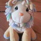 Precious Moments Tender Tails Plush Lion Pastel Rainbow Yarn Loop Hair Mane Tail Blue Feet