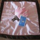Tiddliwinks Plush Pink Lady Bug Lovey Security Blanket BrownTrim