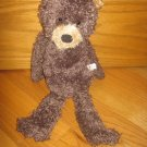 Manhattan Toy 2003 Plush 19 Inch Brown Bear Tan Gold Ears Muzzle Long Dangle Legs