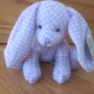 Target Stores Plush Purple & White Plaid Dot Sitting Bunny Rabbit Pink Ears