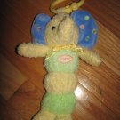 Carters Plush Yellow Green & Blue Elephant Musical Light up Hanging Toy Dot Accents