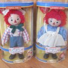 "Brass Key Collectible Raggedy Ann and Andy 14"" Porcelain Dolls"