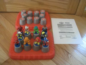 Marvel Spiderman & Friends 3D Memory Match Up Game Instructions & Red Case Autism Therapy Complete
