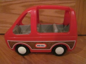 Little Tikes Dollhouse Vehicle Red Mini Van Doll House Size Tykes