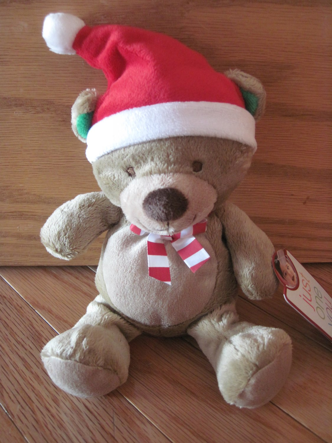Carters Just One You Plush Christmas Teddy Bear Santa Hat Toy 92390