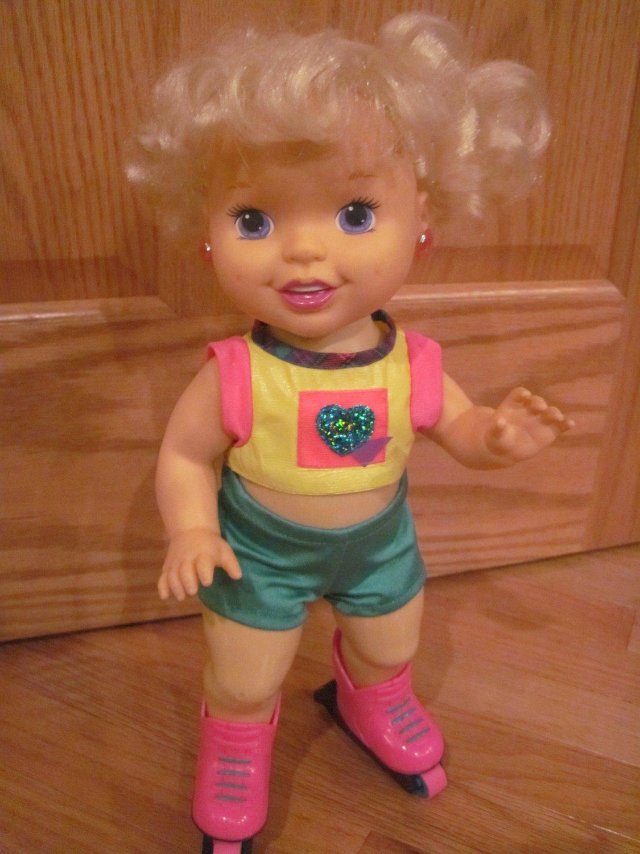 Vintage 1996 Tyco Rollerblade Baby Doll Skate Derby Blond