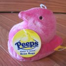 Marshmallow Peeps Plush Pink Chick Bean Bag Toy
