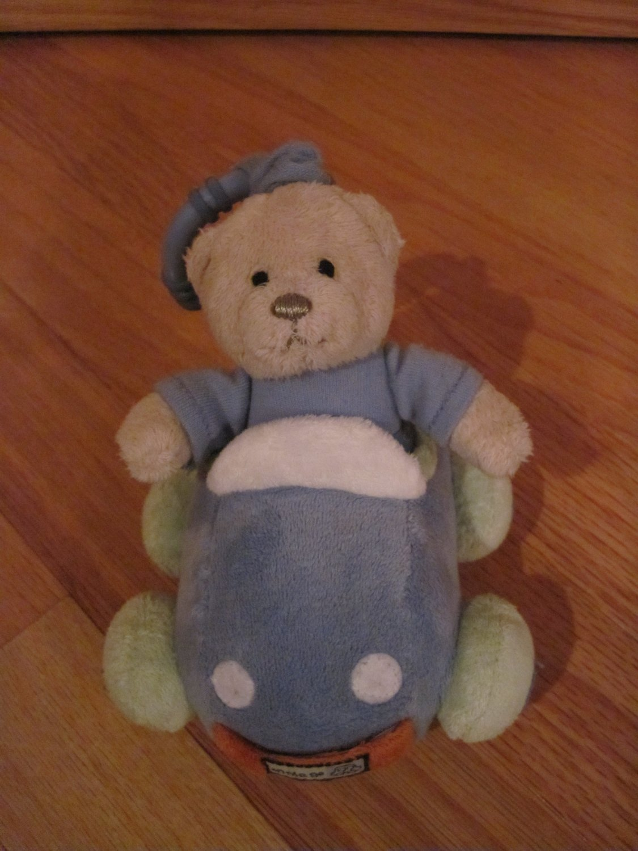 Carter's Little Guy On the Go Plush Lovey Vibrating Teddy Bear in Car 7579