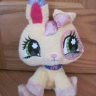 Hasbro Littlest Pet Shop Plush Yellow Bunny Rabbit 68649/68598