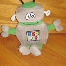 Kohls Jumping Beans Plush Gray & Green Robot Toy