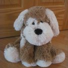 Circo Target Brand Large Fluffy Beige Tan & Cream Floppy Puppy Dog with Red Bandanna