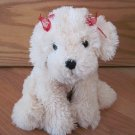 Mary Meyer Plush Cream Beige Puppy Dog with Red Ribbons Sadie Kissing Magnet