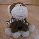Harry and David Animal Adventure Brown & Beige Talking Plush Monkey Leopard Ribbon World Market