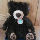 DanDee Collectors Choice Plush Dark Brown Teddy Bear Walmart Toy Paw Print Feet