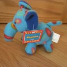 Target Best Made Toys Blue Teal Circle Fleece Elephant Plush Animal