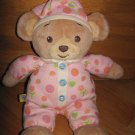 Build A Bear Workshop Plush Teddy Bear Pink Flower Pajamas Record Talk Listen