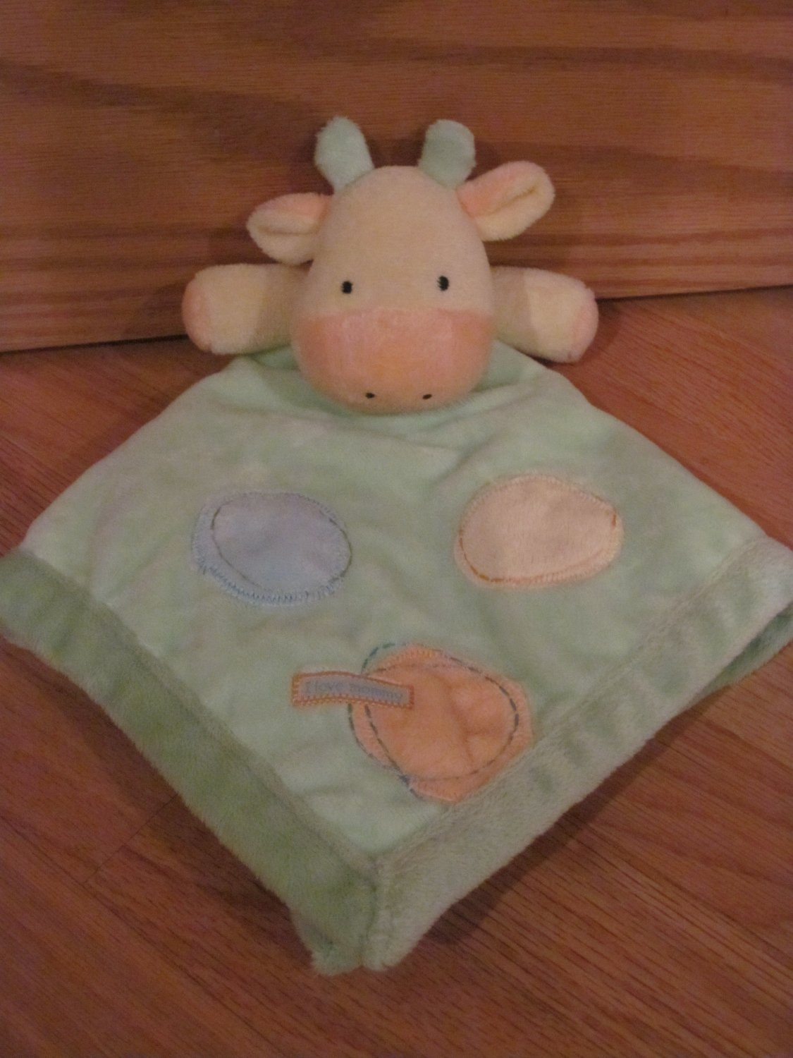 Carters Just One Year I Love Mommy Green Giraffe Dot Baby ...