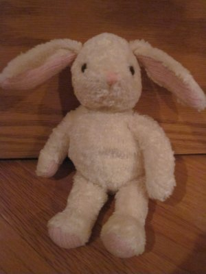 Wendy Bellissimo Plush Cream Ivory Bunny Rabbit Pink Knit Chenille Love Vintage Teaberry 9415292
