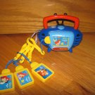 Disney Tunes Kid Clips Retro Radio Player & 4 Clips (Little Mermaid & Lion King)