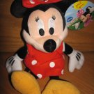 Disney Mickey Mouse Clubhouse Plush Minnie Mouse Doll Toy Red Dot Dress Bow Yellow Shoes