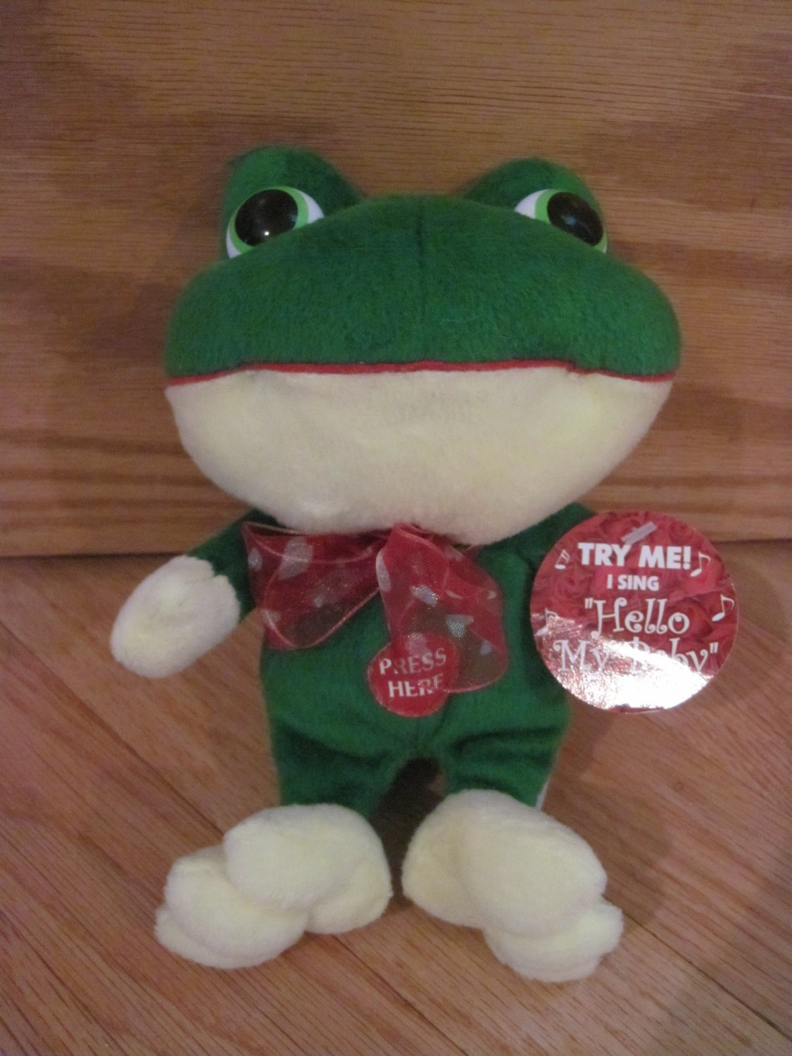 Dandee Collectors Choice Plush Singing Frog Hello My Baby